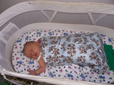 baby in bassinet, sleeping baby, baby baby sleeping, bassinet, moses basket