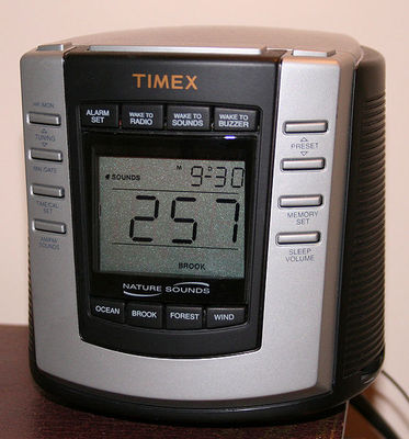 white noise machine, image from wikimedia commons, white noise